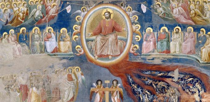 Particolare del Giudizio universale di Giotto nella cappella degli Scrovegni, Padova