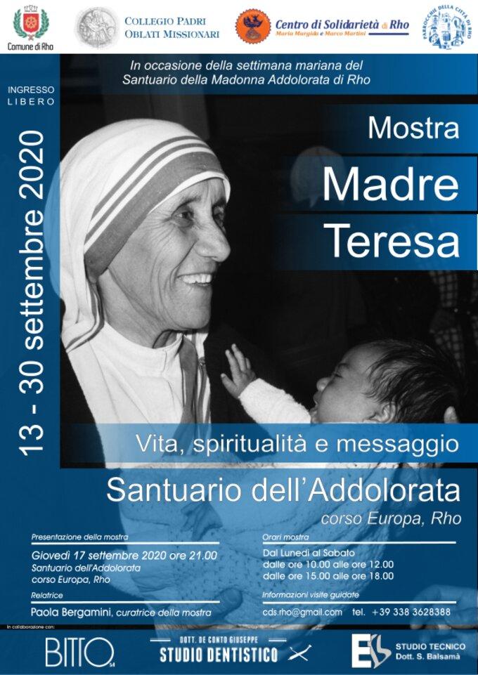 Locandina della mostra su Madre Teresa di Calcutta a Rho
