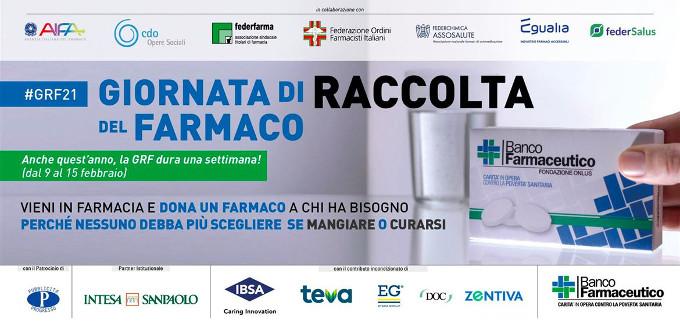 Banner della Giornata della Raccolta del Farmaco 2021